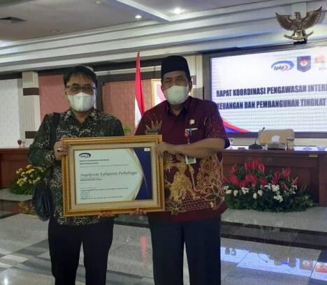 APIP Inspektorat Kabupaten Purbalingga Terima Penghargaan Kapabilitas APIP level 3